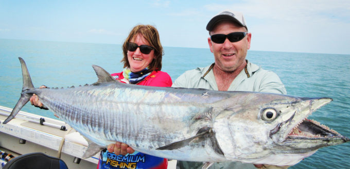Monster spanish mackerel come through our waters around South West Rocks around late summer