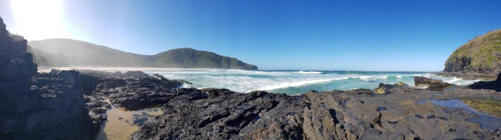 The amazing rugged coastline of Smokey Cape.
