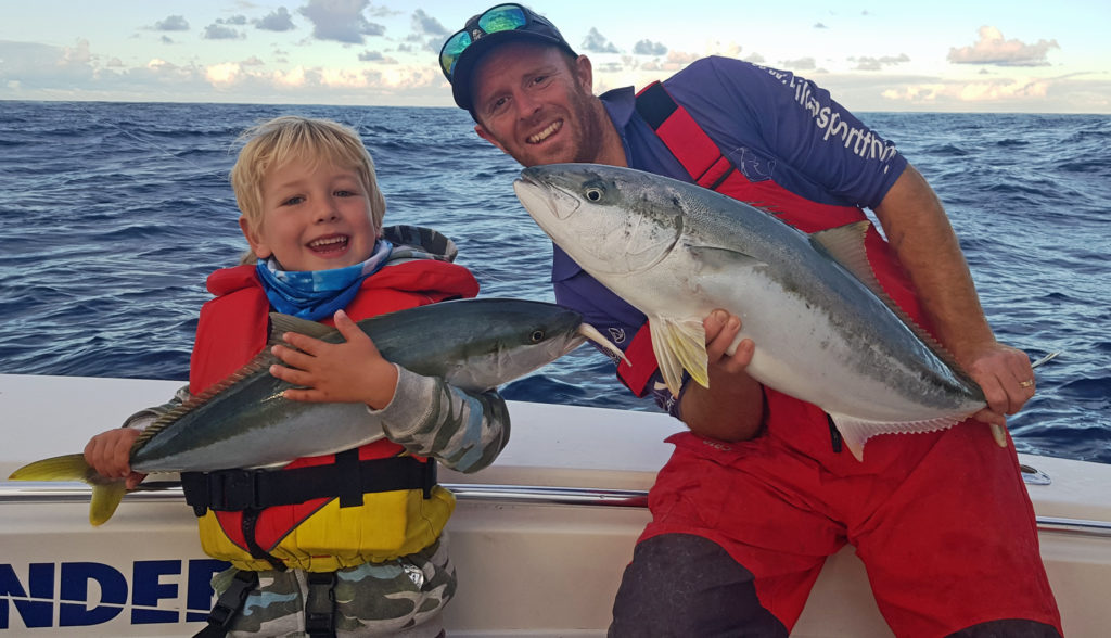 Kingfish are great fighters and are common around Fish Rock